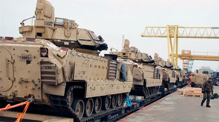 Американские танки у белорусской границы призваны сдержать агрессию России