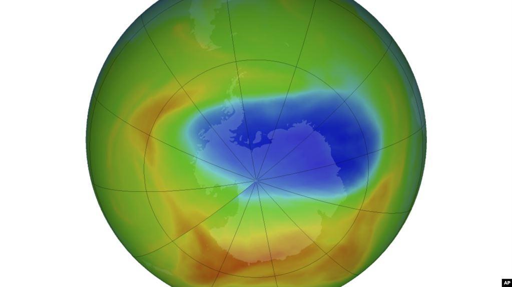 НАСА: Озоновая дыра сократилась до минимальных размеров