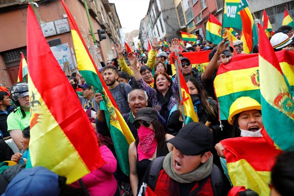 В Боливии переворот: президент Эво Моралес, уличенный в фальсификации выборов (73%?), подал в отставку под давлением военных