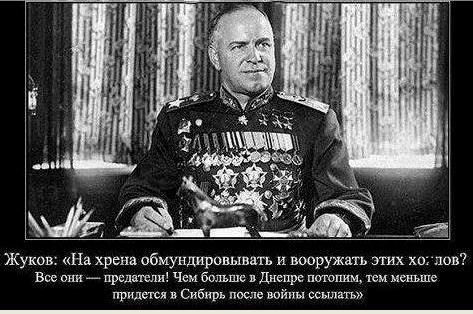 Маршал Жуков - убийца и мародер