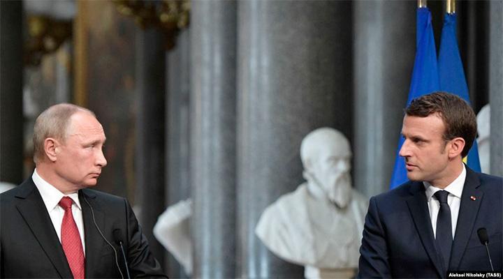 Метаморфозы. С Макроном что-то произошло: Он заявил, что Россия друг НАТО, а главный враг Ислам