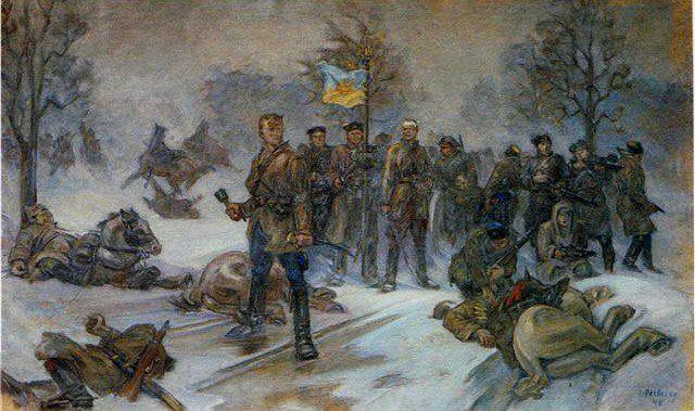 Бій за станцію Хутір-Михайлівський. До полку УНР приєдналися залишки туркменського кінного полку