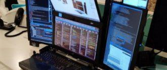 Создан первый в мире ноутбук с семью экранами