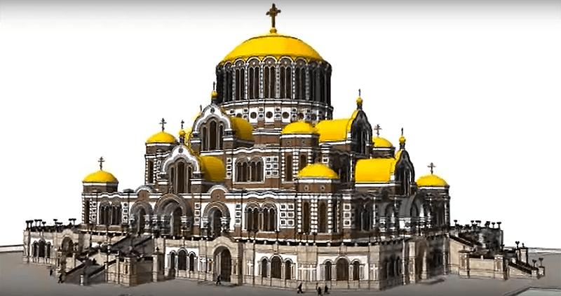В России хотят построить гигантский православный суперсобор