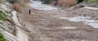 В Крыму почистили канал и ожидают подачу воды